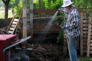 Building the compost pile