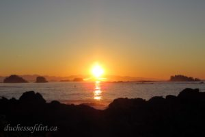 Sunrise at Amphitrite Point in Ucluelet, BC